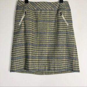 Talbots A- Line Houndstooth Check Skirt Size 10